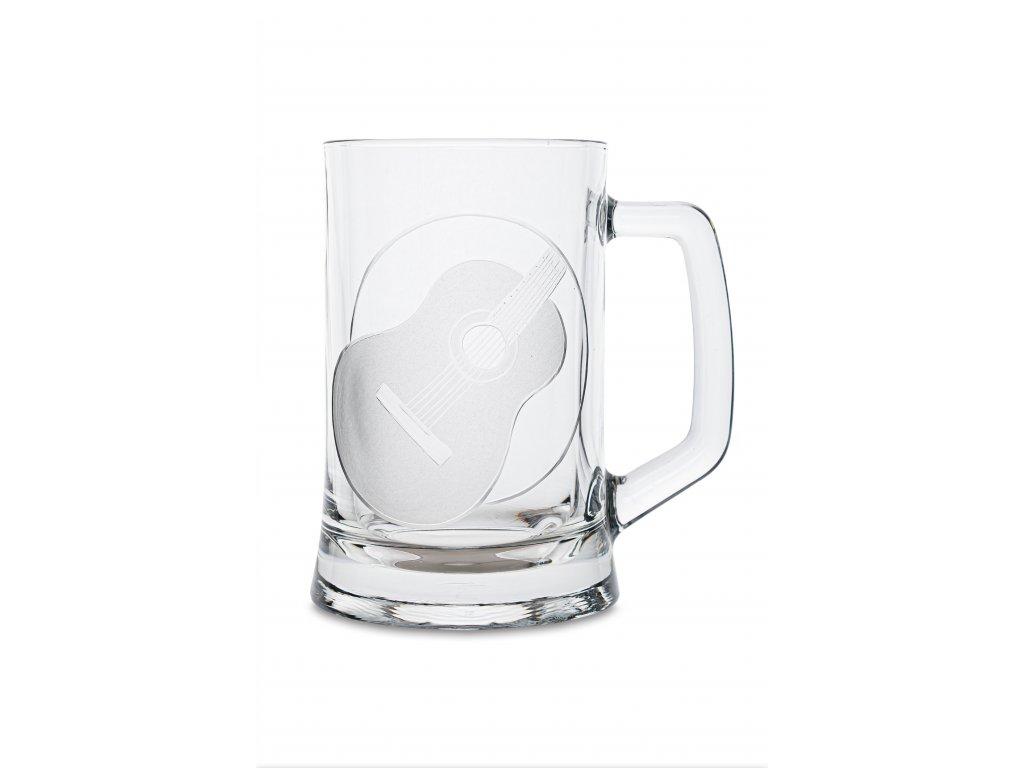 Pivní půllitr s uchem ŠPANĚLSKÁ KYTARA