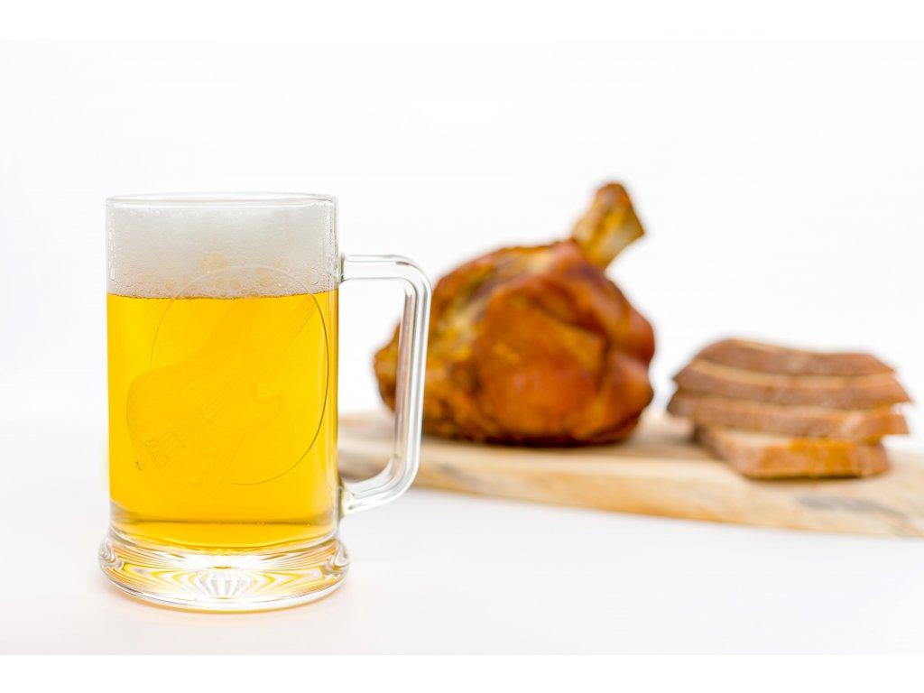 Pivní půllitr s uchem BASOVÁ KYTARA