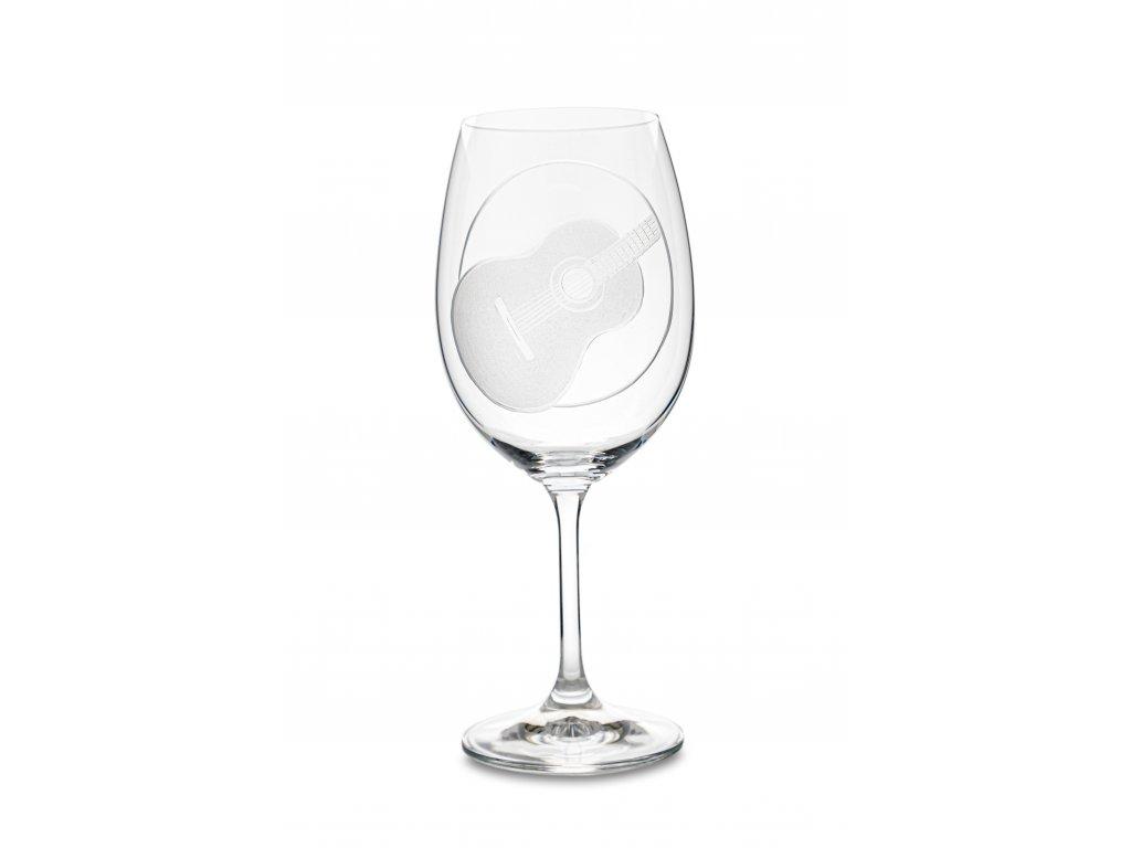 Sklenice na víno ŠPANĚLSKÁ KYTARA, 450 ml