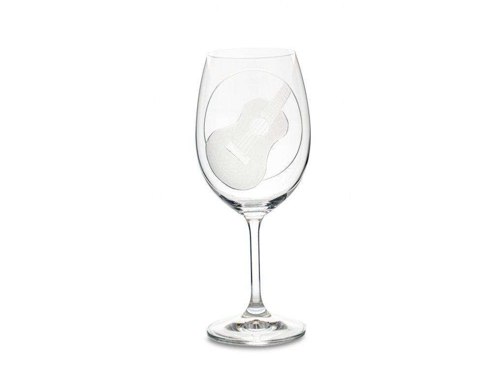 Sklenice na víno UKULELE, 450 ml