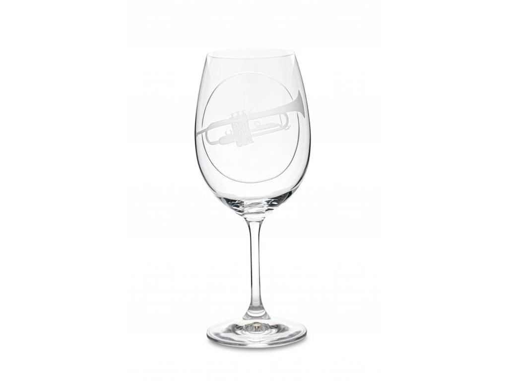 Sklenice na víno TRUBKA, 450 ml