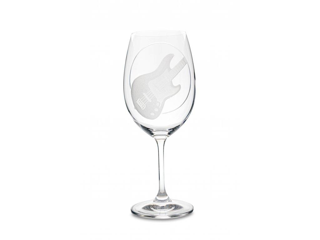 Sklenice na víno BASOVÁ KYTARA, 450 ml