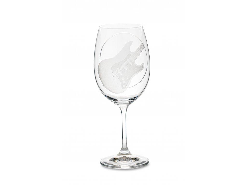 Sklenice na víno EL. KYTARA STRATOCASTER, 450 ml