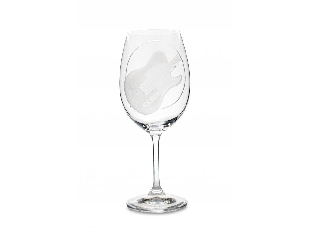 Sklenice na víno EL. KYTARA TELETASTER, 450 ml