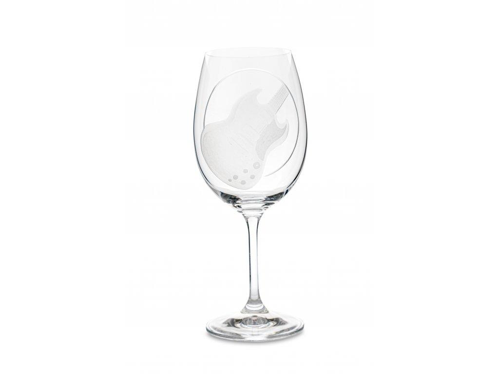 Sklenice na víno EL. KYTARA SG, 450 ml