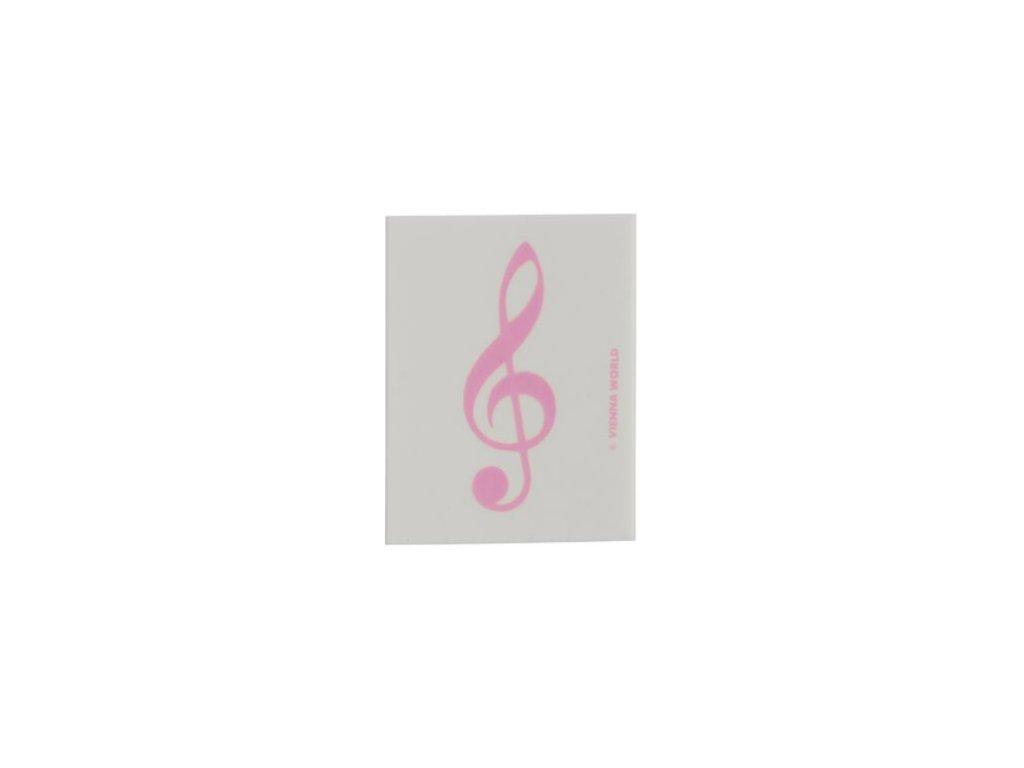 Guma houslový klíč růžový