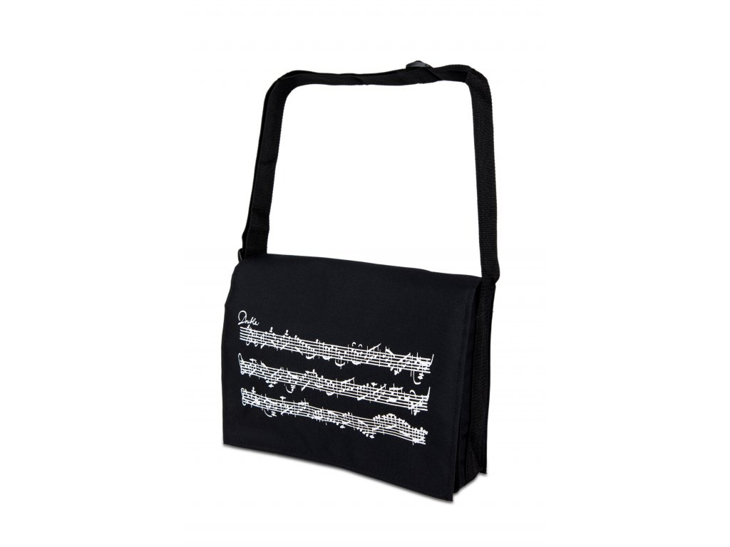 Taška přes rameno s partiturou černá (1)