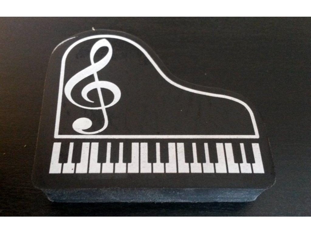 guma klavír s houslovým klíčem