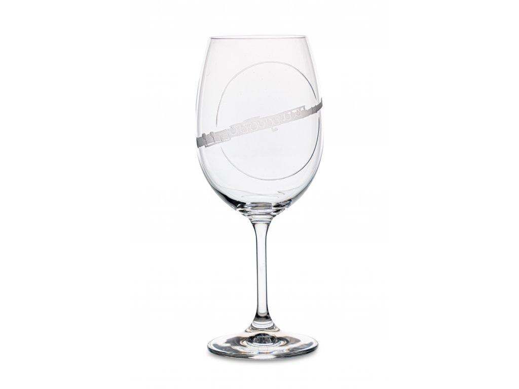 Sklenice na víno PŘÍČNÁ FLÉTNA, 450 ml
