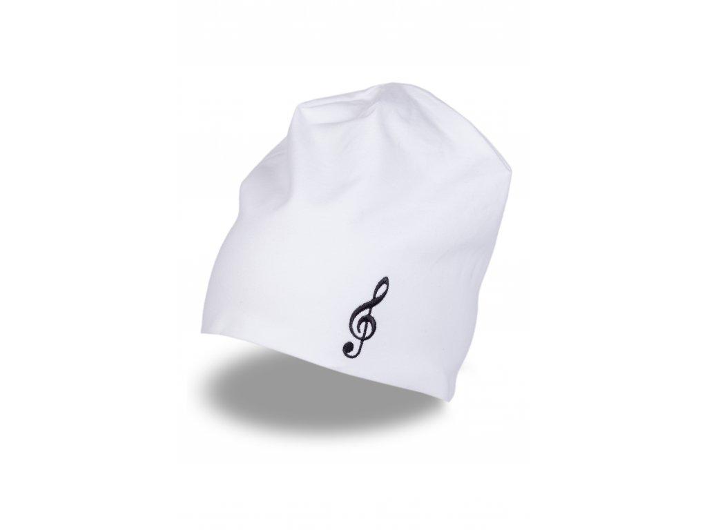 Čepice HOUSLOVÝ KLÍČ bílá