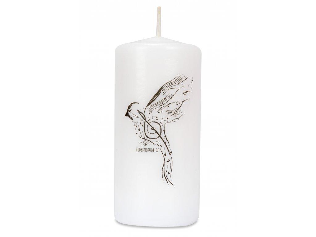 Svíčka skřivánek s notami (1)