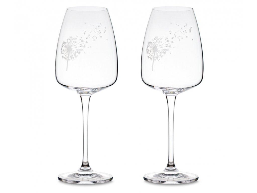 Sada sklenice na víno Pampeliška s notami 2 ks