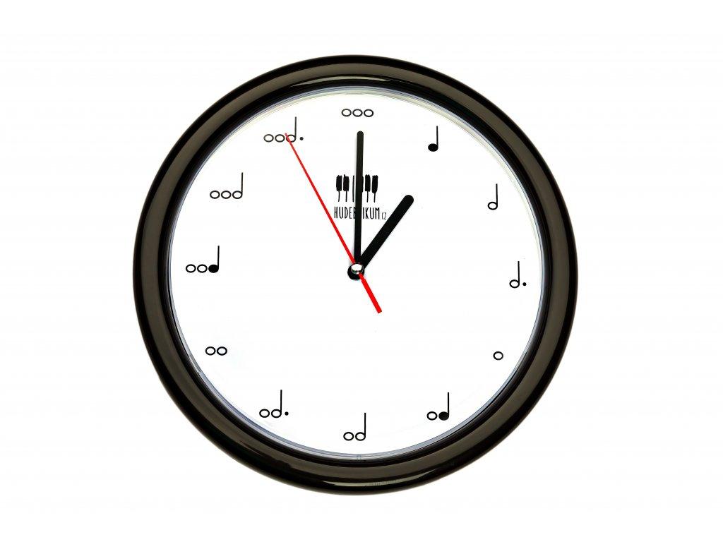Nástěnné hudební hodiny NOTY