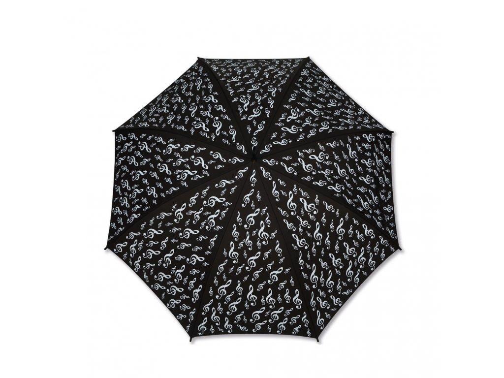 Deštník HOUSLOVÝ KLÍČ černý, dlouhý