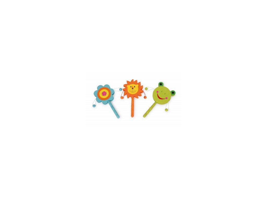 bubínek pro děti, kytička, lev, žába