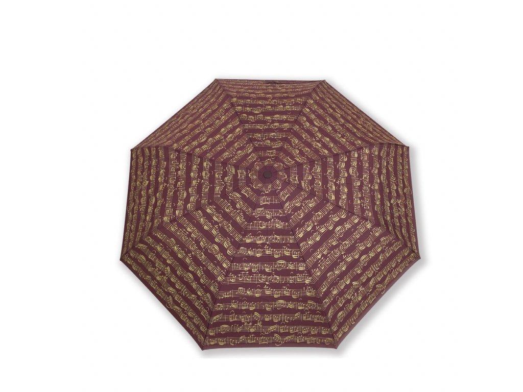 Deštník PARTITURA BACH bordó, skládací