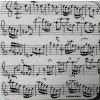 podtácek Bach pod hrnek, s notami a partiturou
