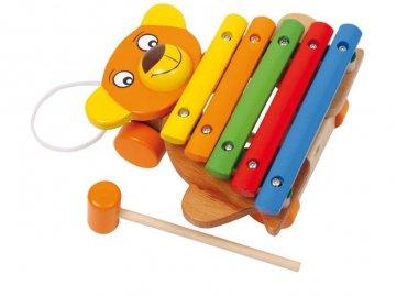 Tahací xylofon - medvěd
