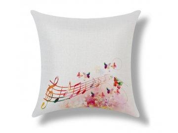 povlak partitura, motýl, nota, houslový klíč