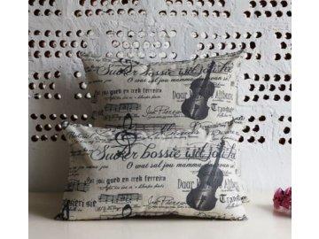 Povlak na polštářek s hudebními motivy