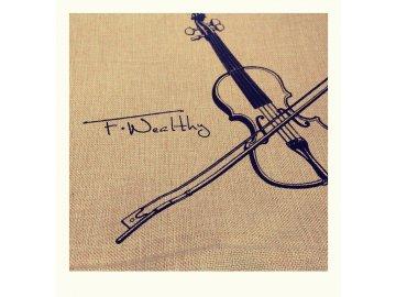 povlak na polštář housle