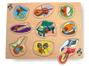 vkládačka hudební nástroje