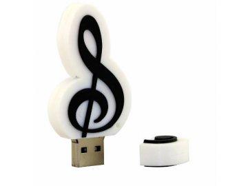 USB Flash disk 8 GB houslový klíč - bílý