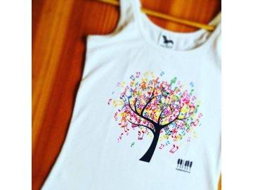Tričko s hudebním stromem