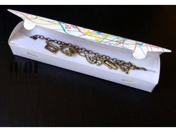 Dárková krabička s barevnými notami MAGICO - na náramek