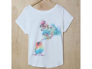 Tričko Ptáček zpěváček
