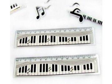 Pravítko s klaviaturou a notami