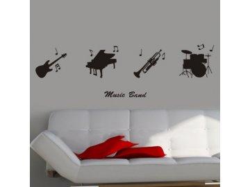 hudební nástroje samolepka na zed