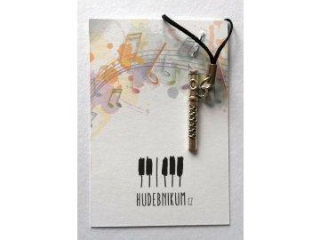Přívěsek na klíče/mobilní telefon příčná flétna