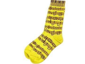 ponožky s partiturou žluté