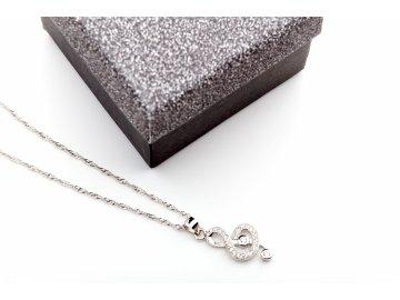 Náhrdelních pravé stříbro houslový klíč