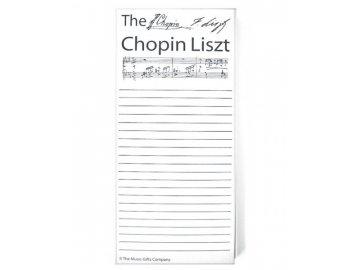 Chopin Liszt bloček nákupní seznam
