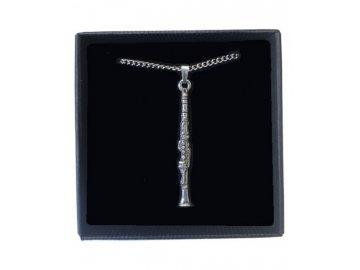 náhrdelník klarinet, řetízek, hudební nástroj