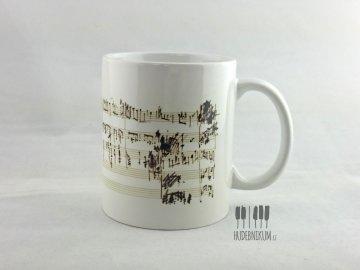 Hrnek na kávu s partiturou Chopin