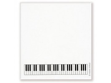 lepící poznámkový blok klaviatura