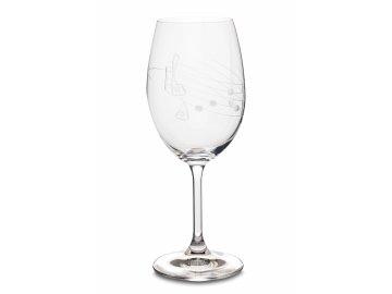 Broušená sklenice s partiturou na červené víno, 350 ml (1)