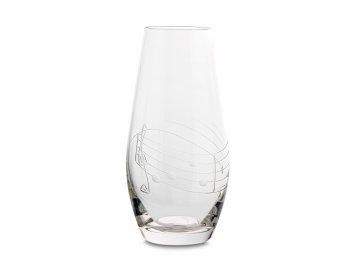 Broušená váza s partiturou, 20 cm