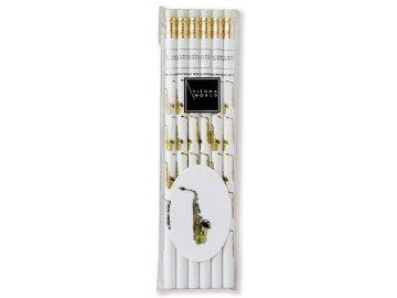 Tužka dřevěná - saxofon