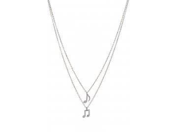 Bižuterní sada dvojitý náhrdelník s osminovými notami