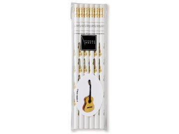 Tužka dřevěná - kytara