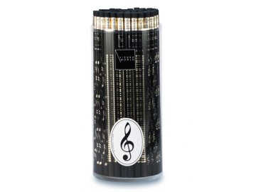 Tužka dřevěná - houslový klíč černá
