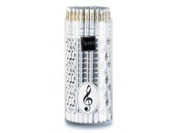 Tužka dřevěná s klaviaturou - bílá