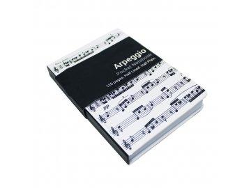 deníček Arpeggio s partiturou A6