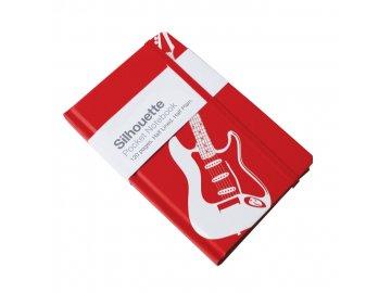 deníček silueta s elektrickou kytarou A6