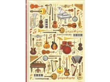 deník hudební nástroje A5