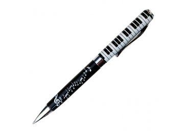 kuličkové pero s klaviaturou a notami